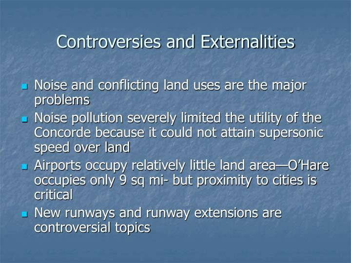 Controversies and Externalities