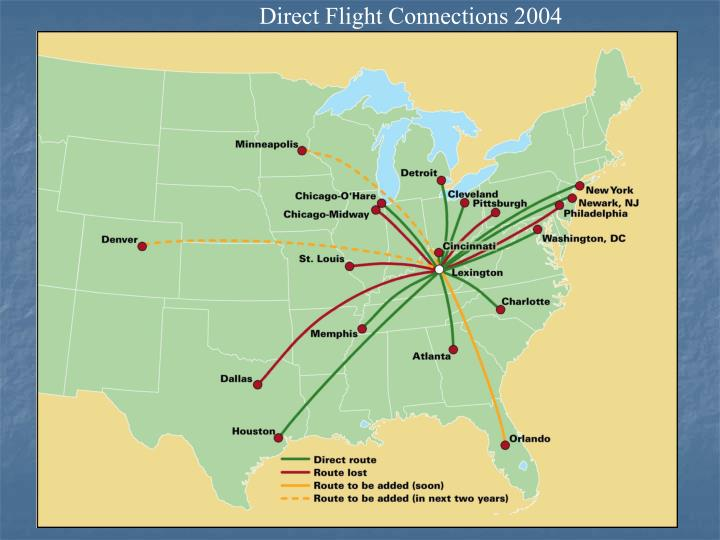Direct Flight Connections 2004