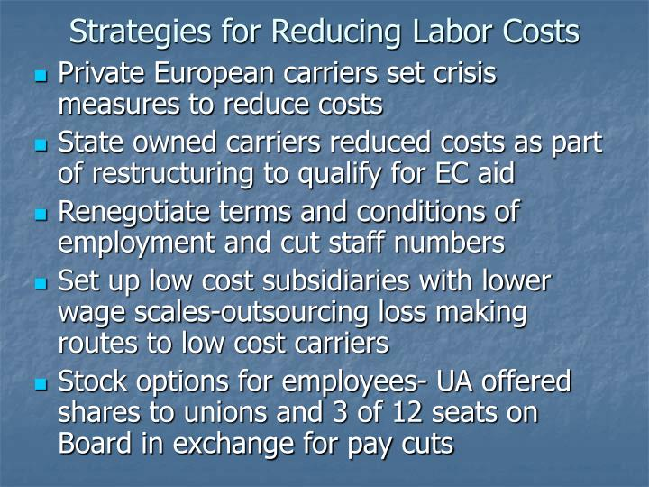 Strategies for Reducing Labor Costs