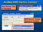 arcmap dnr garmin connect