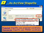 as arcview shapefile