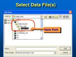 select data file s