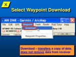 select waypoint download