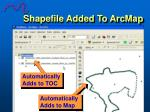 shapefile added to arcmap49