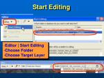 start editing