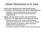 green revolution in s asia