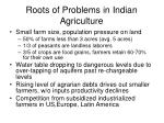 roots of problems in indian agriculture