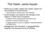 the vision some issues
