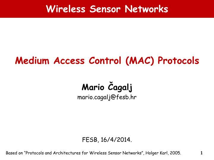 wireless sensor networks n.