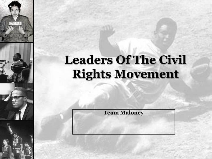 leaders of the civil rights movement n.