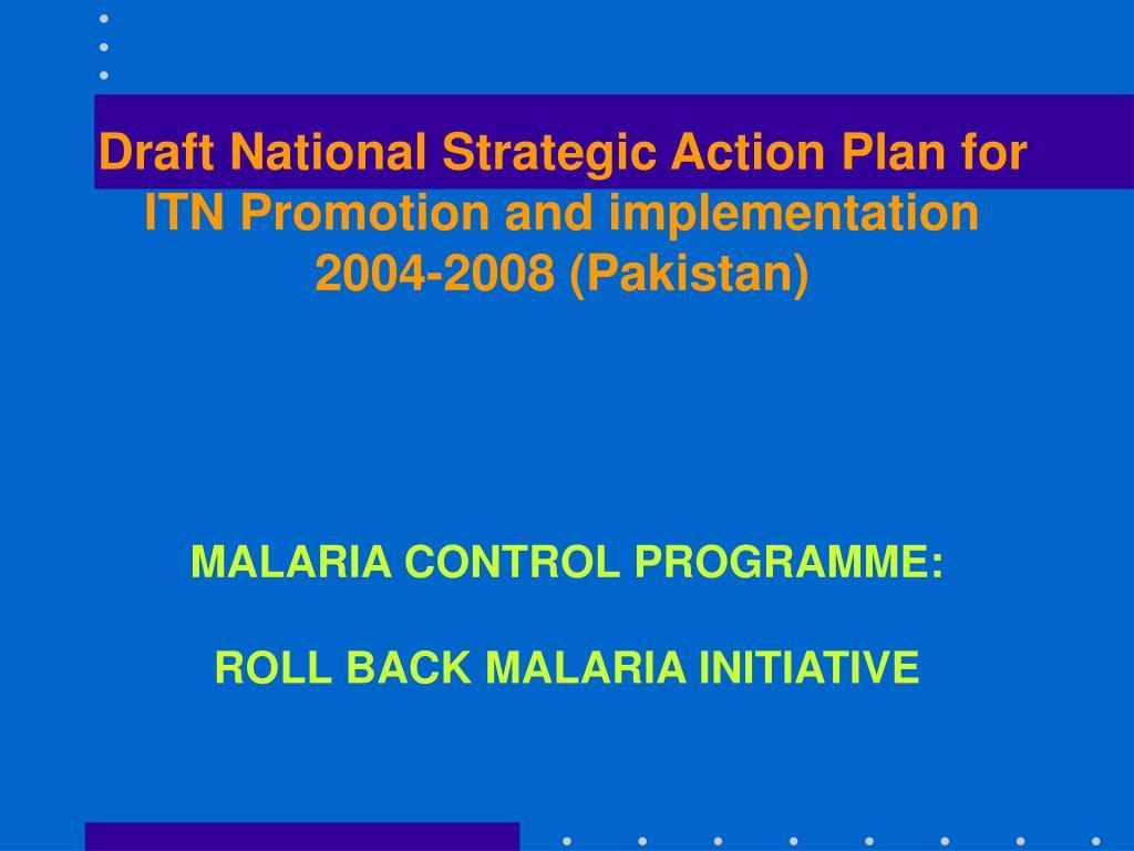 malaria control programme roll back malaria initiative l.