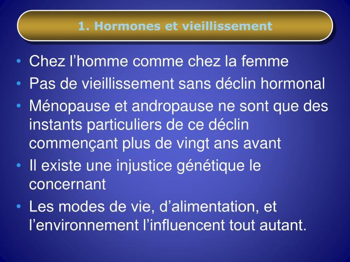 1 hormones et vieillissement