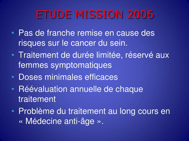 ETUDE MISSION 2006