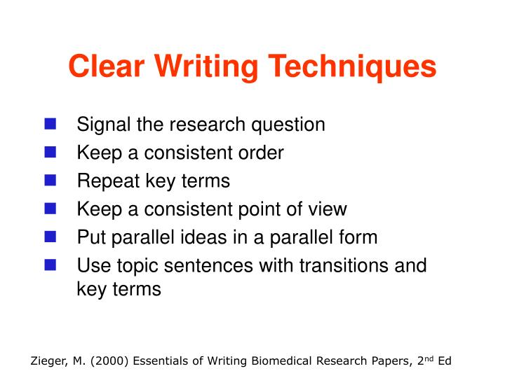 Clear Writing Techniques