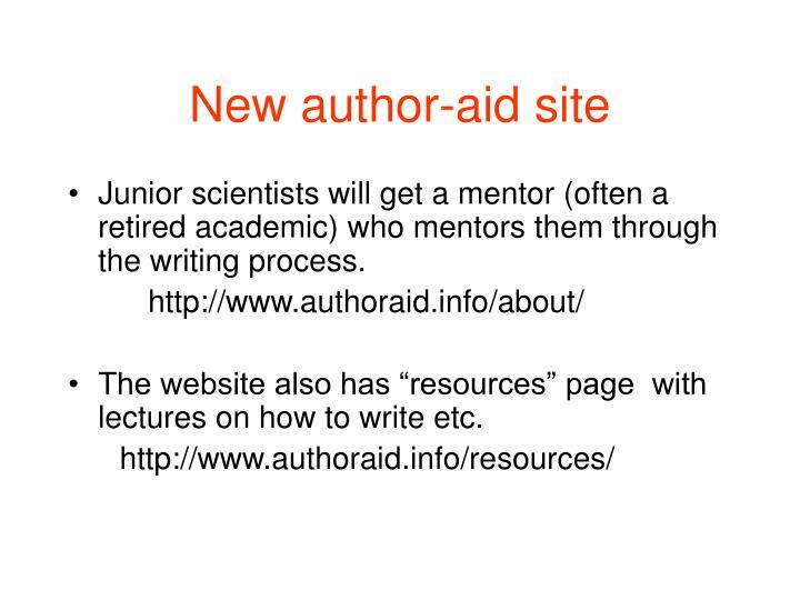 New author-aid site