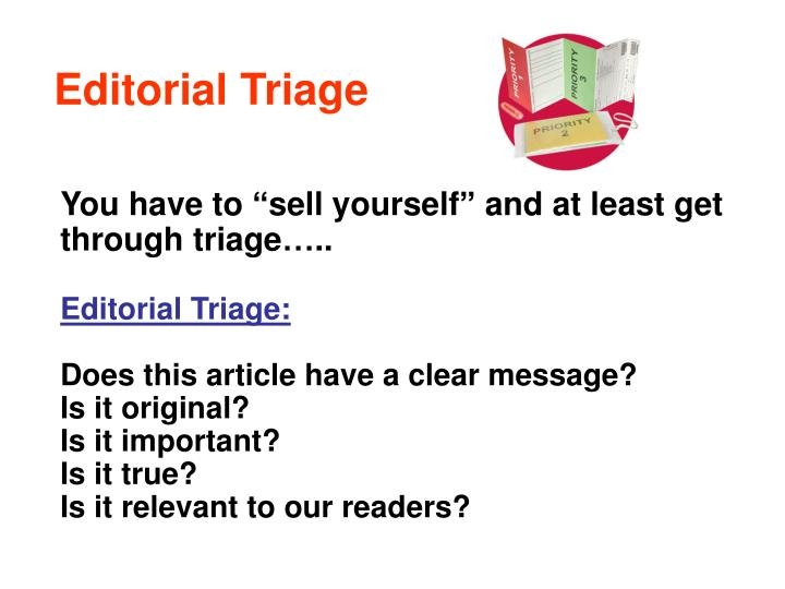 Editorial Triage