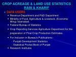 crop acreage land use statistics rabi kharif2