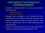 functions of the bureau of statistics punjab