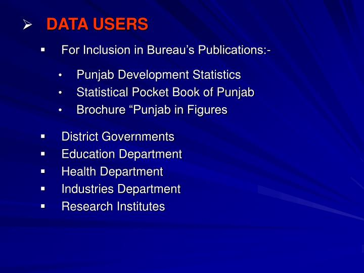 DATA USERS