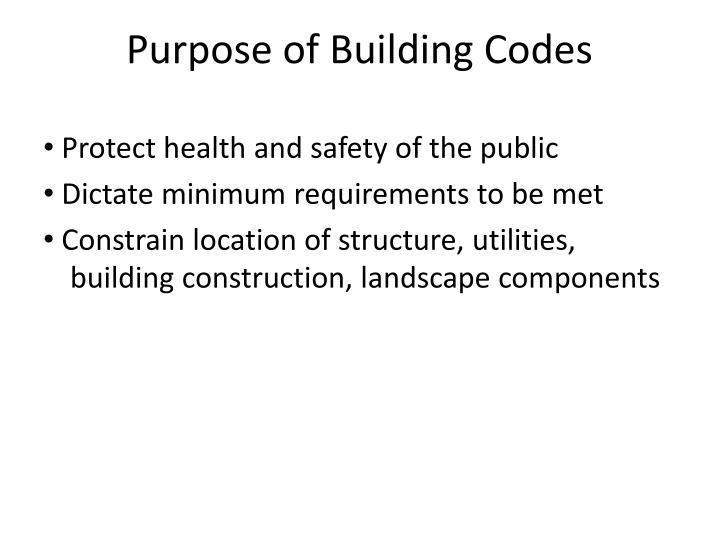 Purpose of Building Codes