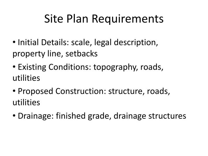 Site Plan Requirements