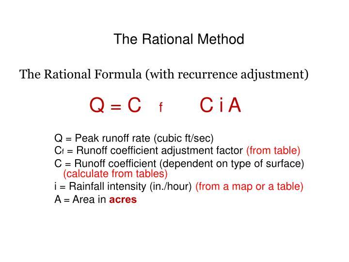 The Rational Method