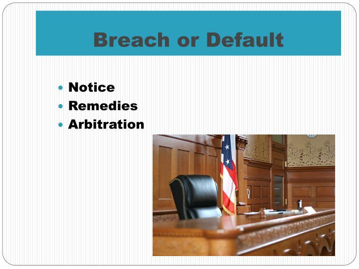 Breach or Default