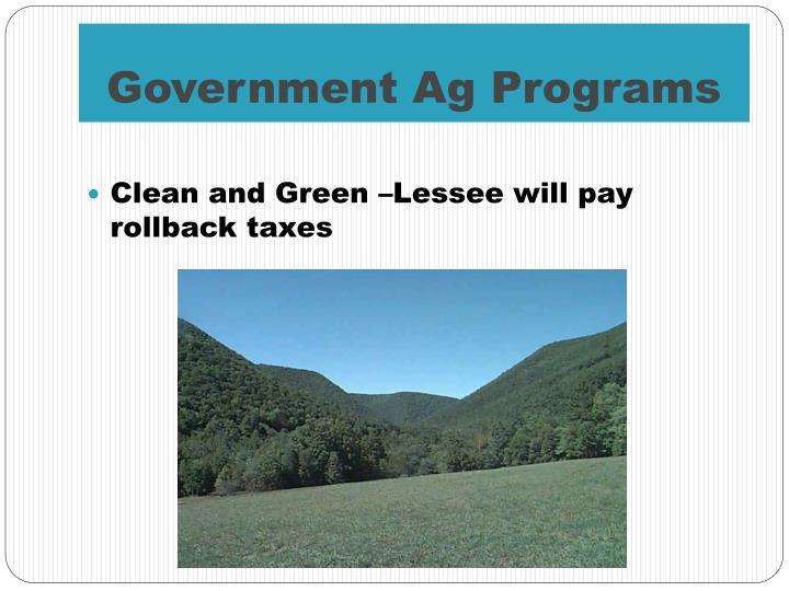 Government Ag Programs
