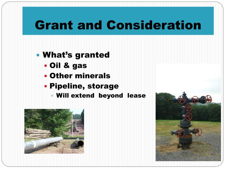 Grant and Consideration