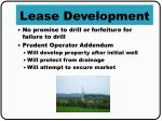 lease development
