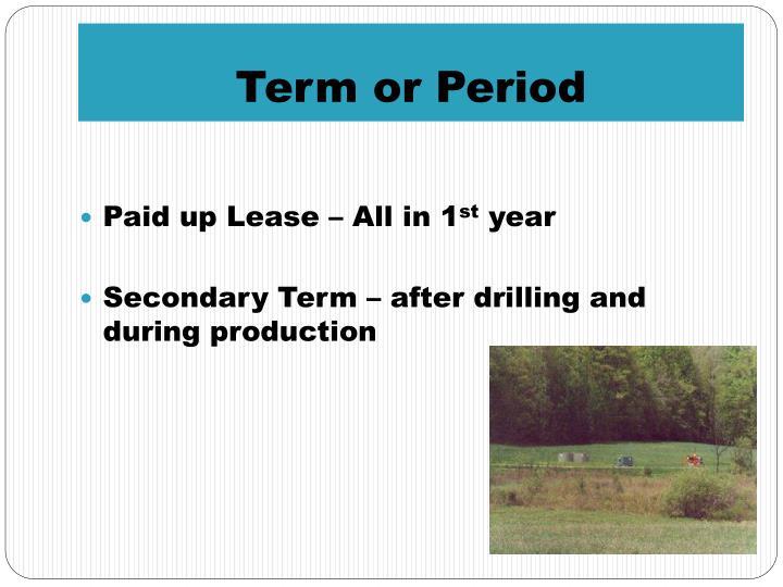 Term or Period