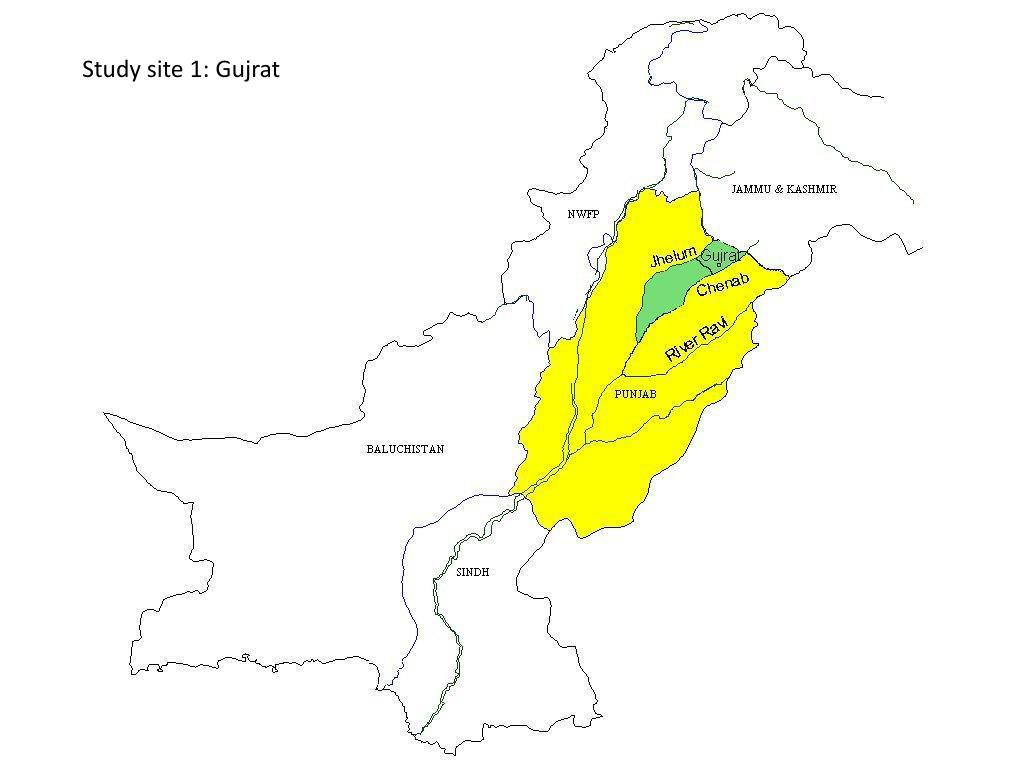 Study site 1: Gujrat