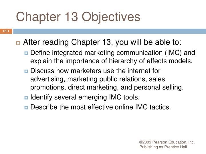 chapter 13 objectives n.