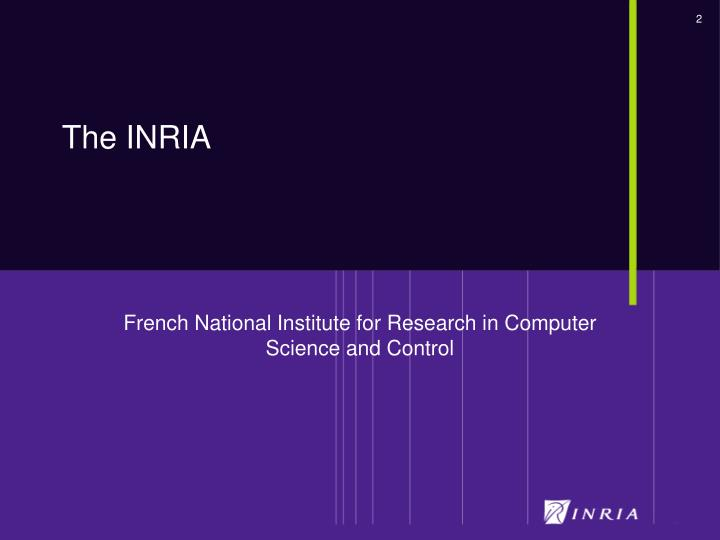 French national institute for research in computer science and control