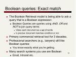 boolean queries exact match