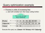 query optimization example
