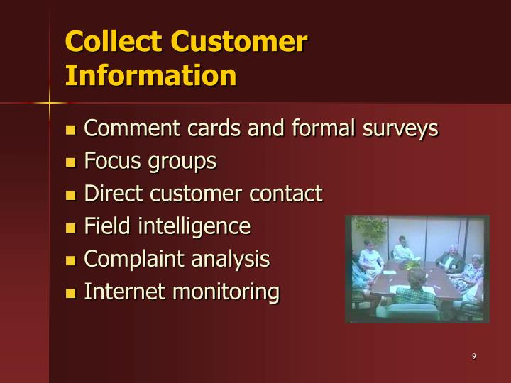 Collect Customer Information