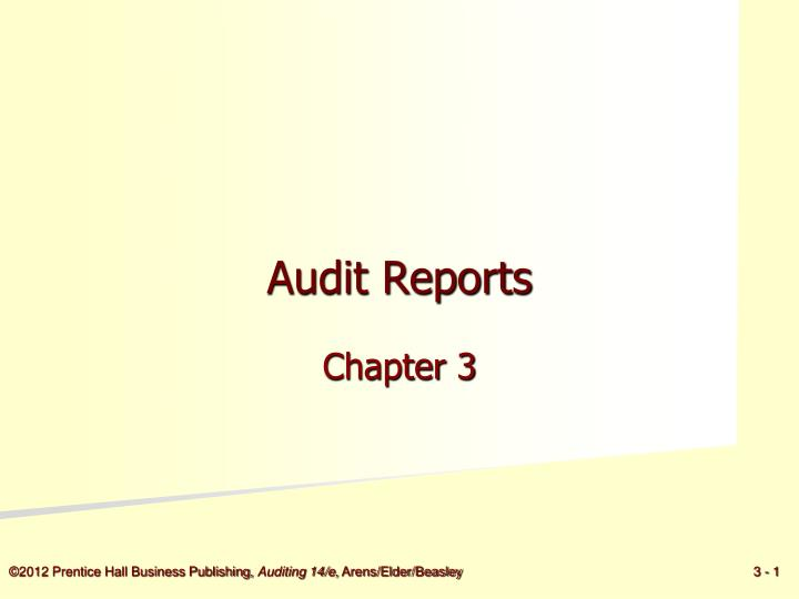 audit reports n.