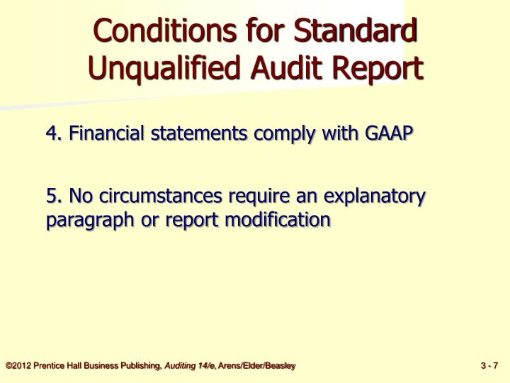 unqualified audit report with explanatory paragraph
