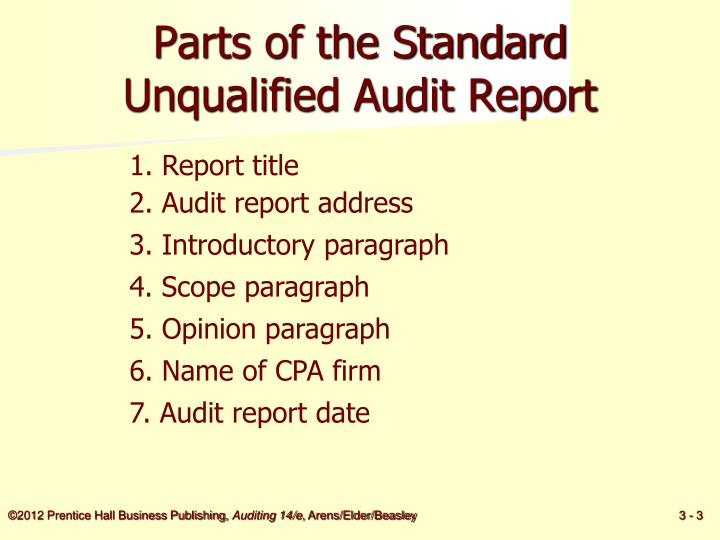 Ppt  Audit Reports Powerpoint Presentation  Id