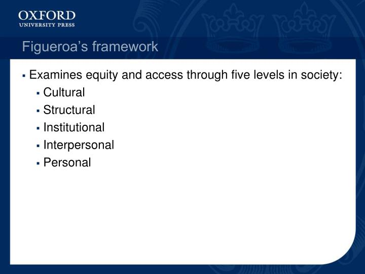 senior pe and figueroa's framework on