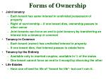 forms of ownership1