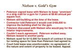 nielson v gold s gym