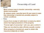 ownership of land