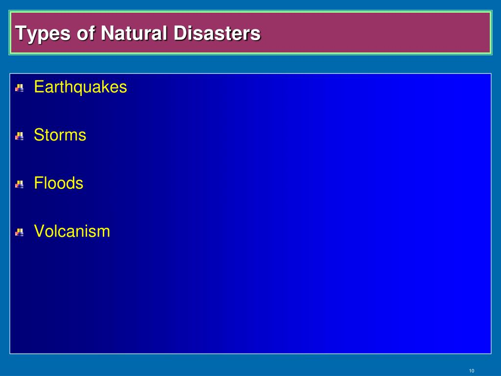 Types of Natural Disasters