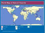 world map of natural hazards
