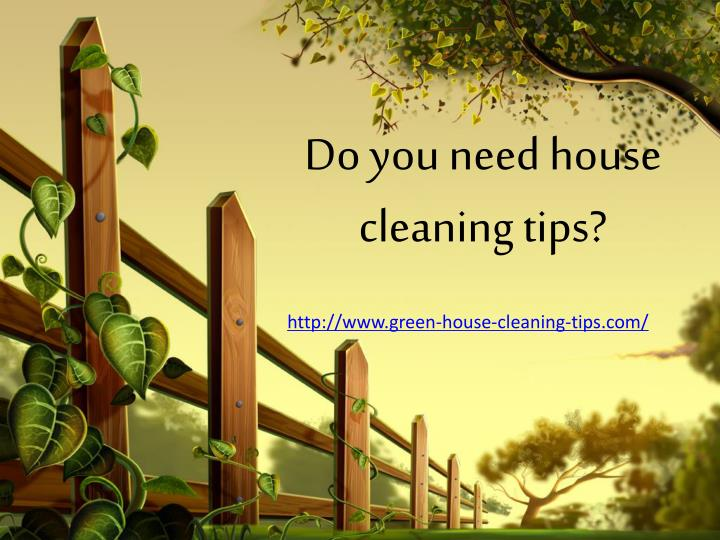 Do you need house cleaning tips