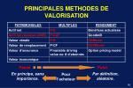 principales methodes de valorisation