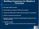 building consensus for models forecasts