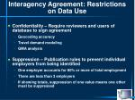 interagency agreement restrictions on data use